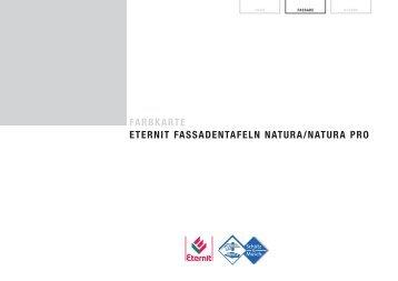 farbkarte eternit fassadentafeln natura/natura pro