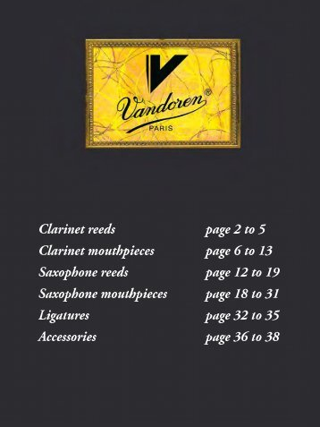 Clarinet reeds - vandoren
