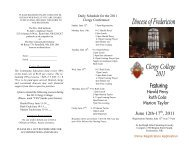 2011 Clergy College Brochure - Anglican Diocese of Fredericton