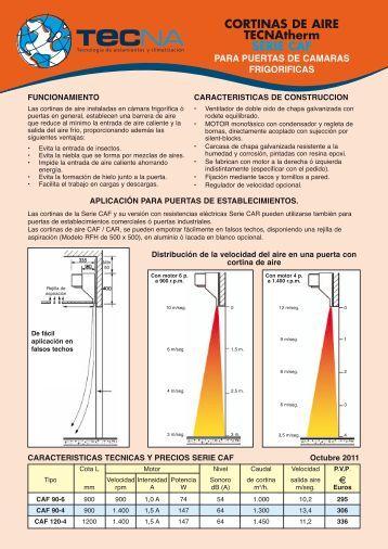 Fotos instalaciones evaporativos tecna - Cortinas de aire caliente ...