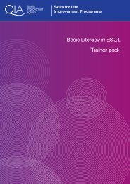 Basic Literacy in ESOL Trainer pack - Skills for Life Improvement ...