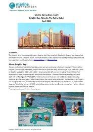 Dolphin Bay, Atlantis, the Palm, Dubai REPORT (c) Marine Connection 2014