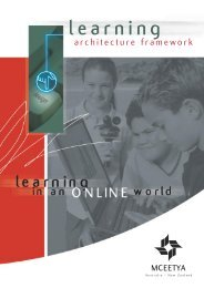 Learning architecture framework - Ministerial Council for Education ...