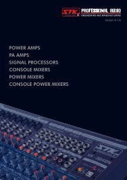 POWER AMPS PA AMPS SIGNAL PROCESSORS CONSOLE ... - STK