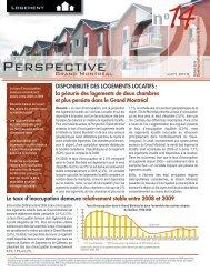 Disponibilité des logements locatifs - Communauté métropolitaine ...