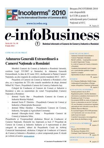 e-infoBusiness nr. 18/08.06.2012 - Camera de Comert si Industrie a ...