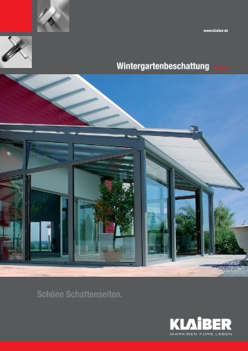 Wintergarten - beschattungen - Markisen Stein