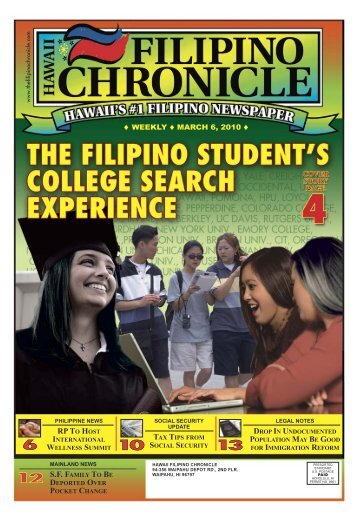 03/06/2010 - Hawaii-Filipino Chronicle