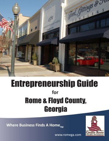 Entrepreneurship Guide - Greater Rome Chamber of Commerce