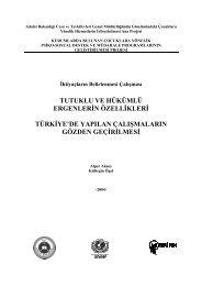 Tutuklu ve Hükümlü Ergenlerin Özellikleri: Türkiye'de ... - Kültegin Ögel