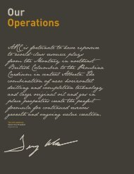 our operations - ARC Resources Ltd.