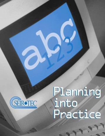 Planning into Practice Planning into Practice - SERVE