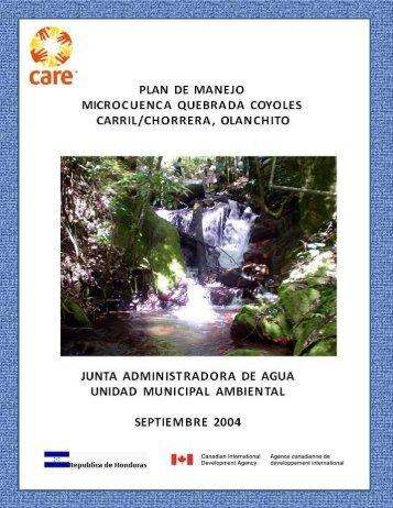 Plan de Manejo - Pasos Honduras