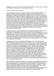 Auszug einer Rede - Entrepreneurship.de