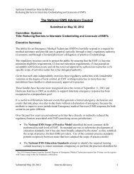 National Emergency Medical Services Advisory Council - NHTSA EMS