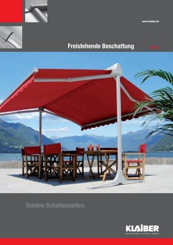 Freistehende Beschattung Schöne Schattenseiten. - Markisen Stein