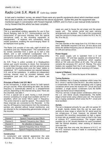 Radio Link S.R. Mark II Colin Guy, G4DDI - VMARSmanuals