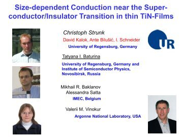 Size-dependent Conduction near the Superconductor/Insulator ...