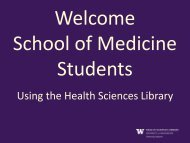 Using the Health Sciences Library
