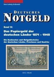 Deutsches Notgeld Band 10, Papiergeld der ... - Gietl Verlag
