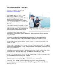Memperkasakan APMM – Muhyiddin - Jabatan Taman Laut Malaysia