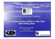 Improving Cycling Mobility in Hilly Cities with Folding Bikes