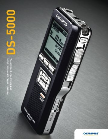Olympus DS-5000 Digital Portable Recorder Brochure (PDF 1.8MB)