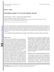 Diet-induced acidosis: is it real and clinically relevant? - Yoli