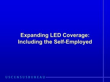 Expanding LED Coverage:Including the Self-Employed