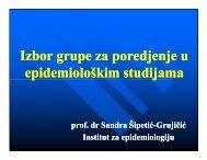 Избор групе за поредјење у епидемиолошким студијама