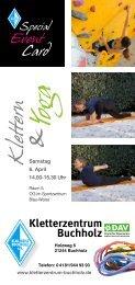Klettern und Yoga - Event am 6. April 2013 - Kletterzentrum Buchholz