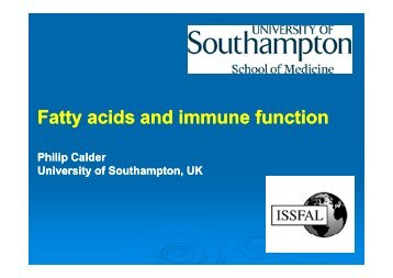 Fatty acids and immune function