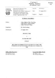 Decision on prosecution motion to admit the evidence of ... - ICTY