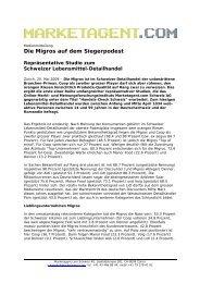 Die Migros auf dem Siegerpodest - Marketagent.com
