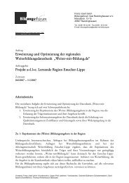 Arbeitsbericht - Arbeiten + Lernen an Lippe + Emscher