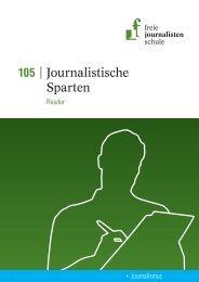 Journalistische Sparten - Freie Journalistenschule