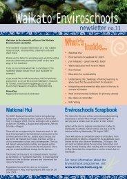 Enviroschools Newsletter no. 11 - May 2007 - Waikato Regional ...