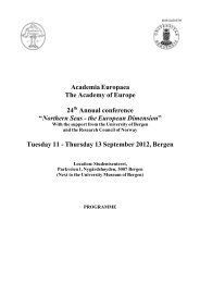 Tuesday 11 - Thursday - Academia Europaea