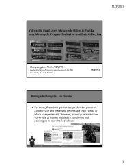 11.03.11 CUTR Webcast Motorcycle Riders in FL.pdf - Center for ...