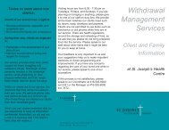 Withdrawal Management Services - St. Joseph's Health Centre ...