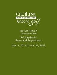 Florida Region - Clublink Corporation