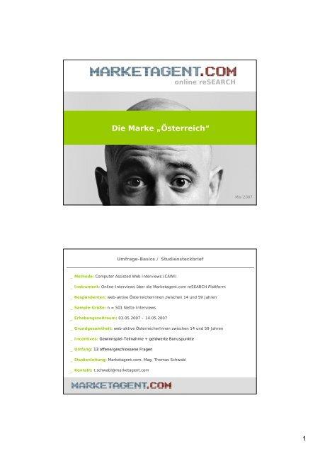 """Die Marke """"Österreich"""" - Marketagent.com"""