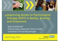 (IAPT) in Bexley, Bromley and Greenwich