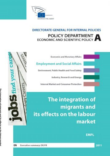 The integration of migrants and its effects on - European Parliament