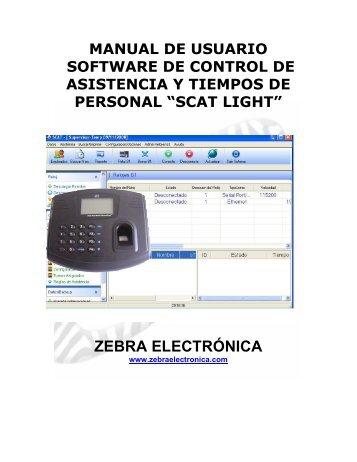MANUAL SCAT LIGTH_ZK_ES.pdf - Zebra Electronica