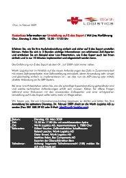 E-dec Export Informationsnachmittag, Dienstag 3 ... - Würth Logistics