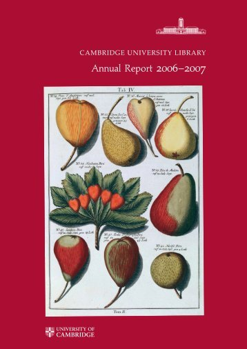 Annual Report 2006–2007 - Cambridge University Library ...