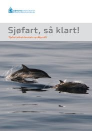 Sjøfartsdirektoratets språkprofil (pdf) - Språkrådet