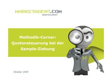 Methodik-Corner: Quotensteuerung bei der ... - Marketagent.com
