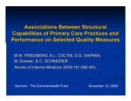 Associations Between Structural Capabilities of Primary Care ...